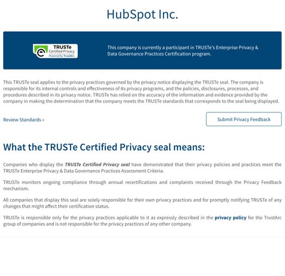IMG HubSpot TRUSTe Certificate on White BG-min